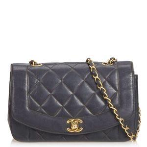 Vintage Chanel Diana Single Flap Shoulder Bag Rare